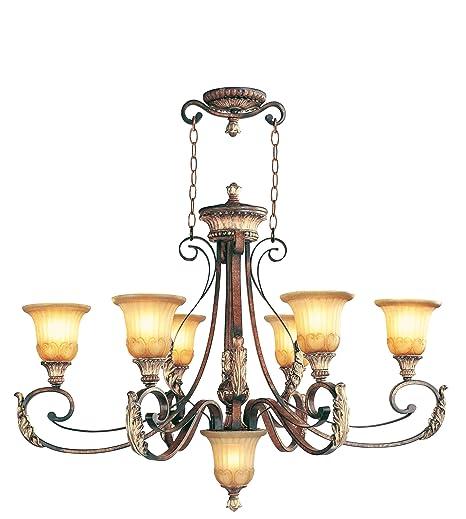 Amazon.com: livex iluminación 8566 – 63 Villa Verona Oval ...