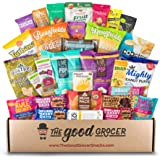 Deluxe VEGAN Snacks Care Package: Delicious Vegan Jerky, Snack Bars, Protein Cookies, Vegan Puffs, Nuts, Healthy Gift…