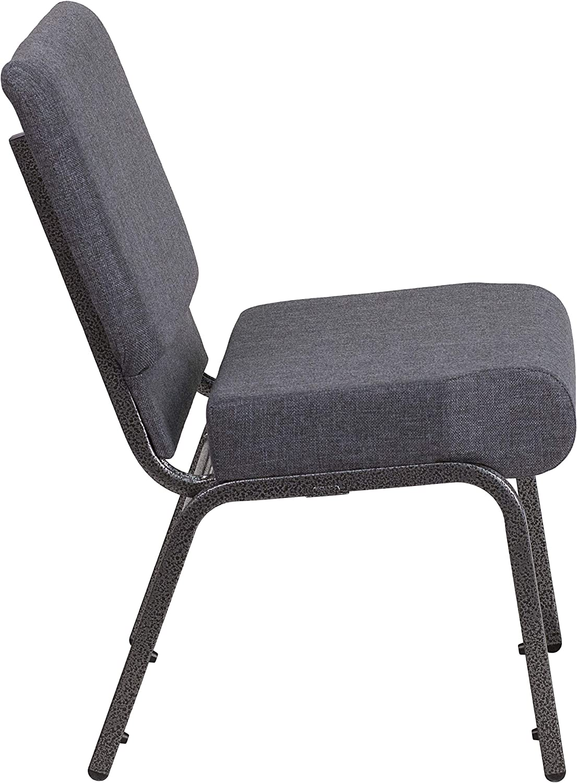 Gold Vein Frame Flash Furniture HERCULES Series 21W Stacking Church Chair in Brown Fabric