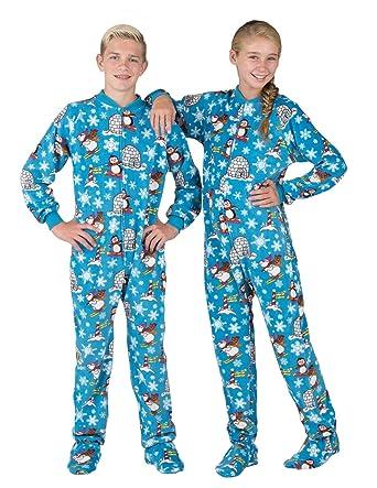 2d050a759d Amazon.com  Footed Pajamas - Winter Wonderland Kids Fleece Onesie ...