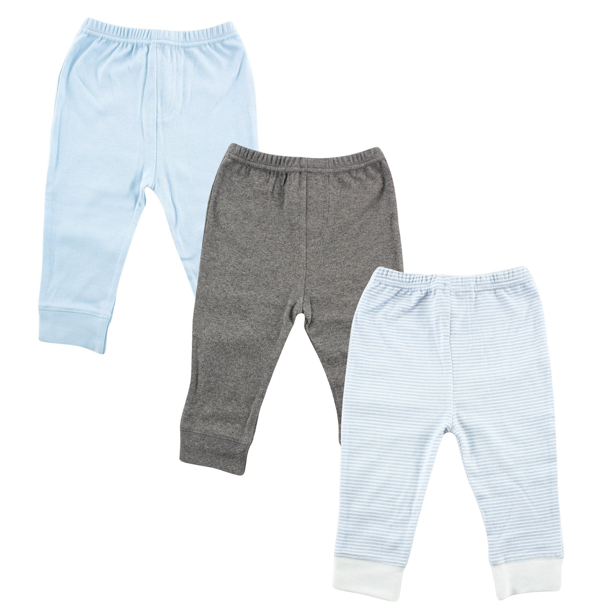 Luvable Friends Baby Tapered Ankle Pants, Light Blue Stripes, 5T