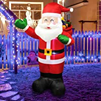 MerryXGift 6ft Christmas Inflatable Santa Claus