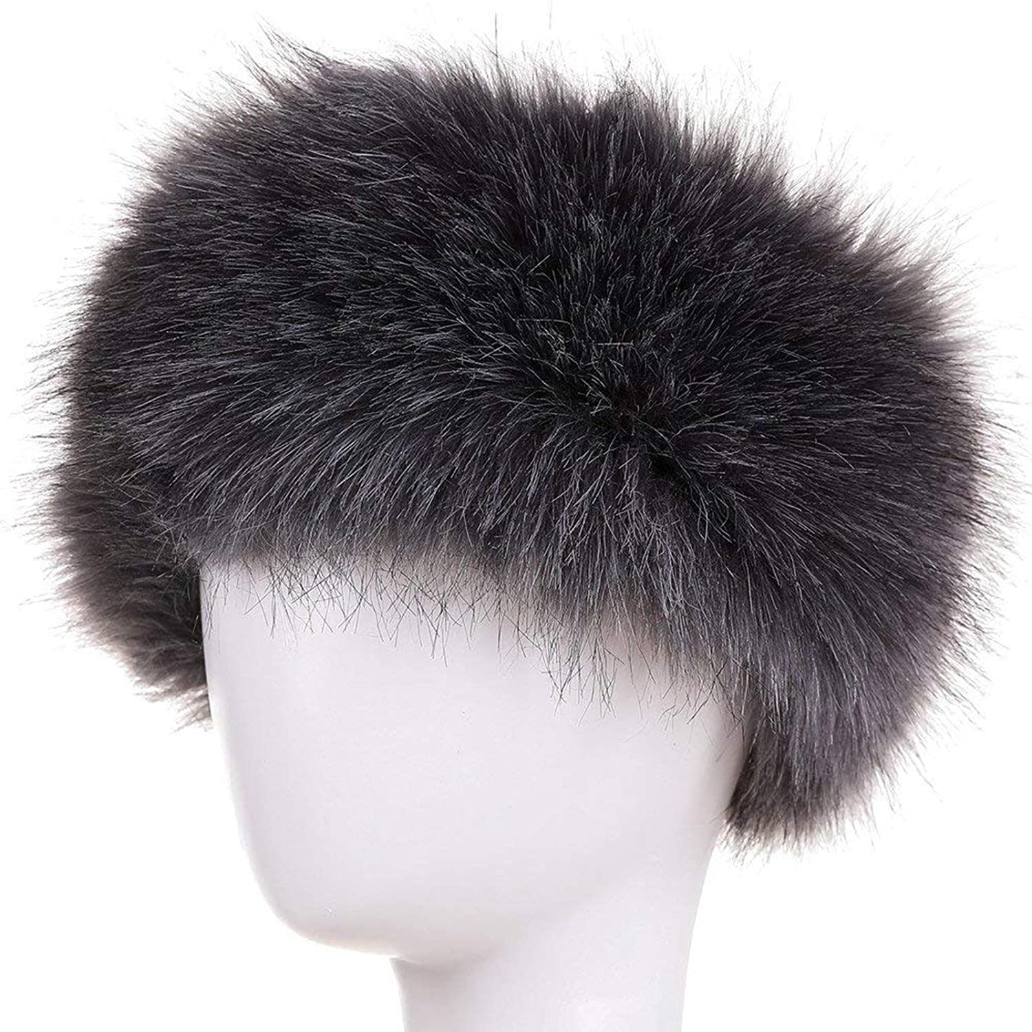 FAITH YN Faux Fur Headband with Elastic Stretch Women Fur Hat Winter Ear  Warmer Earmuff Ski Cold Weather Caps YW0001 60a245da5c31