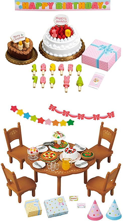 Sylvanian Families Furniture birthday cake set Calico Critters From JAPAN
