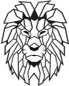 Metal Lion Wall Decor, Lion Head Metal Wall Art, Metal Large Animal Decor, Lion Metal Wall Sculpture, Animal Metal Artwork, Aesthetic Design Farmhouse Decor, Rustic Decor, Cabin Decor, Housewarming gift (17.5'' x 24'')