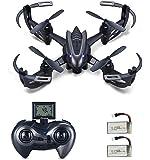Hasakee Quadcoptère Drone 2.4Ghz 6 Axes Gyroscopiques RC Hélicoptère avec 720P HD Caméra,boucle 3D,2 en 1 chargeur et batterie Bonus,parfait pour les débutants