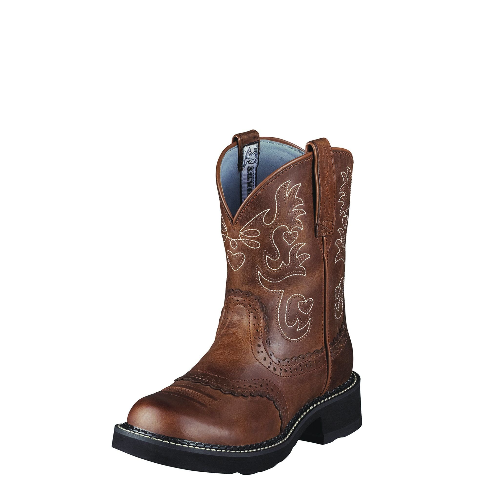 Ariat Women's Fatbaby Saddle Western Cowboy Boot, Russet REBEL, 8.5 B US
