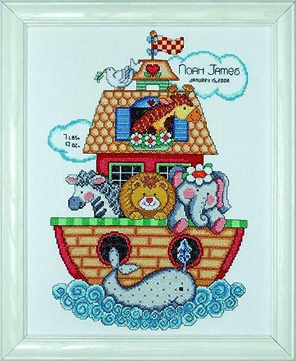 Tobin - Kit de Punto de Cruz para Nacimiento de bebé, diseño de Arca de Noé
