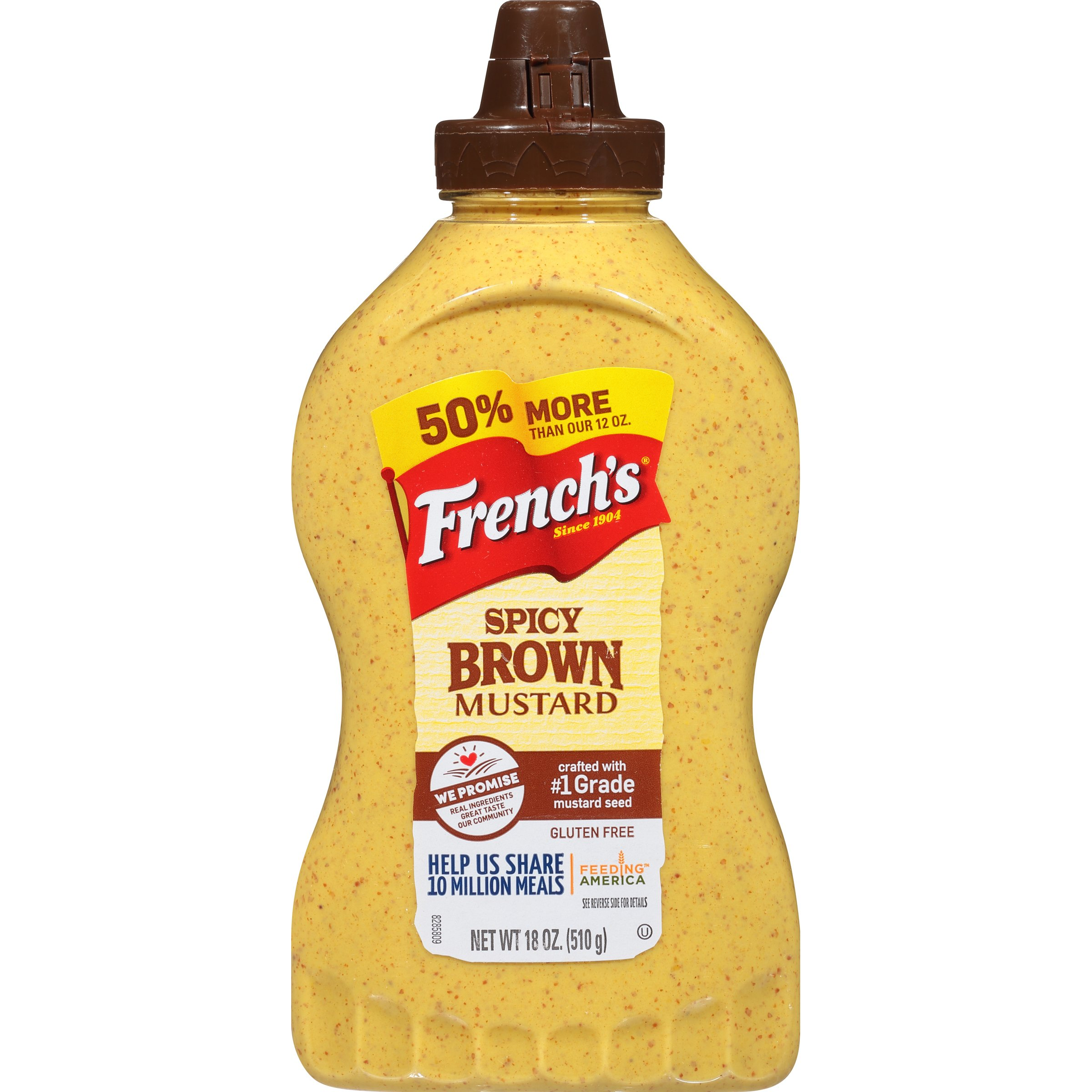 French's Spicy Brown Mustard, All Natural, Stone Ground Mustard, 18 oz