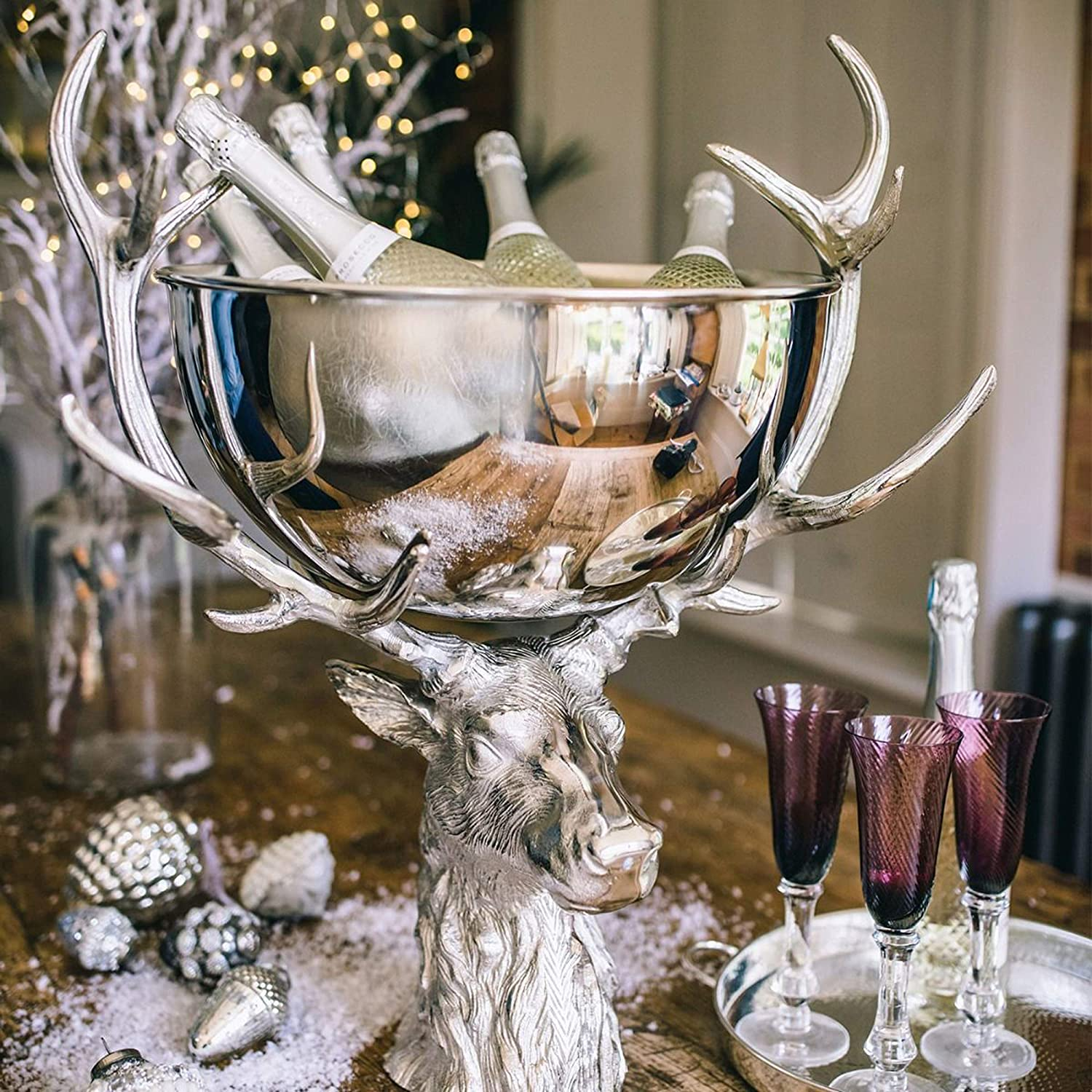 Culinary Concepts Small Punch Bowl with Stag Stand
