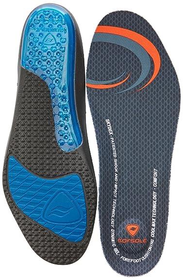 Sof Sole Airr M - Plantillas ortopédicas, color negro, talla 45-46 EU (11-12 UK)