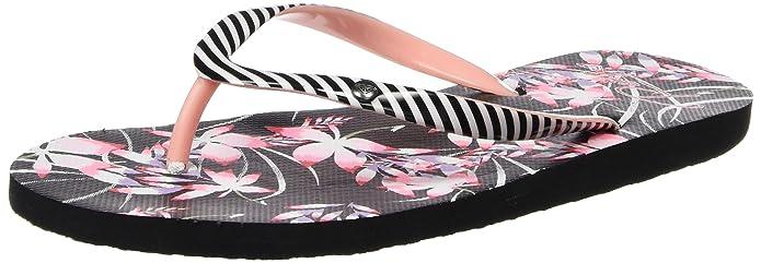 Portofino J SNDL, Sandalias Flip-Flop para Mujer, Varios Colores (Black Multi), 42 EU Roxy