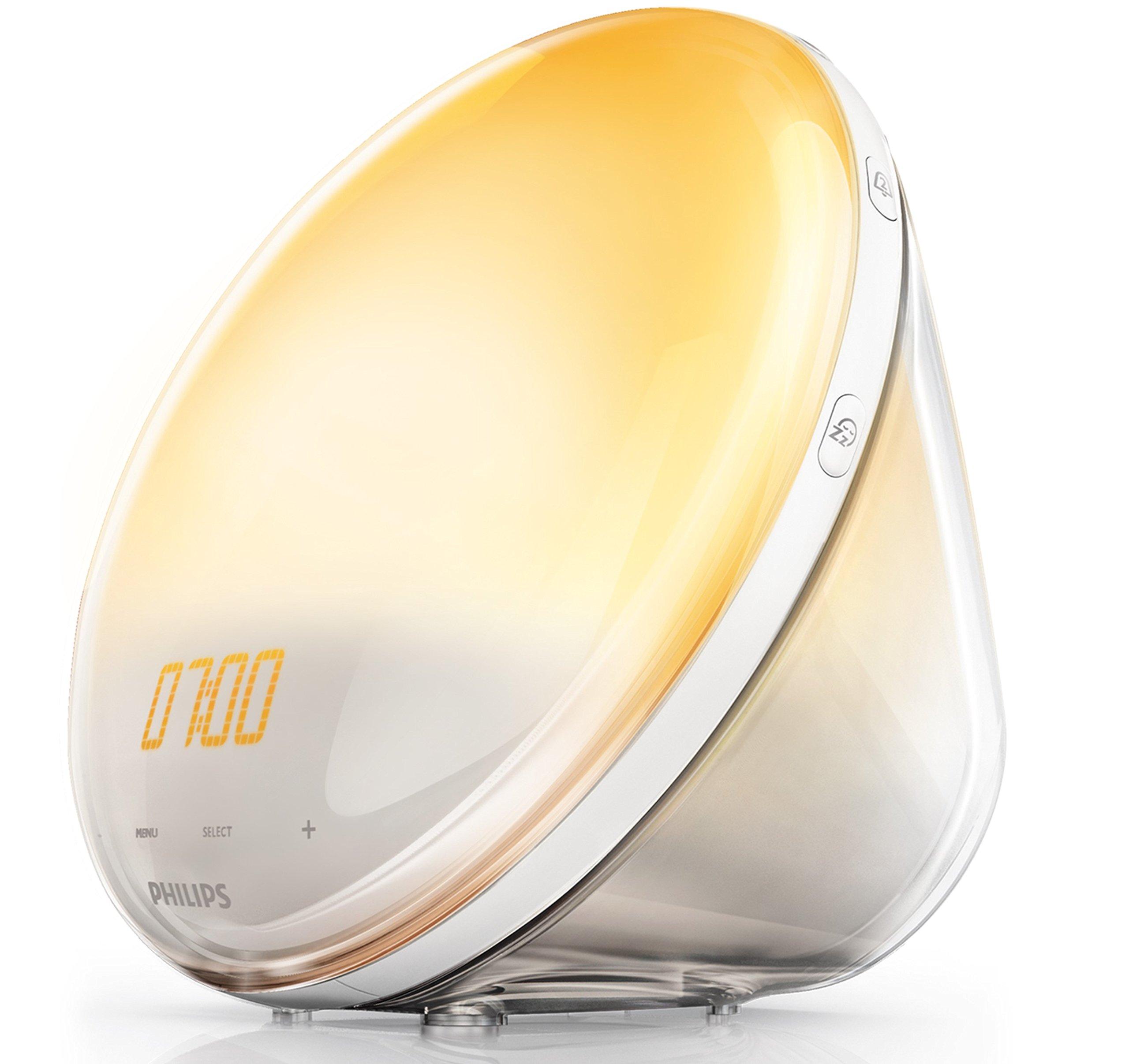 Philips HF3531/01 Wake-Up Light (Sonnenaufgangfunktion, Touchdisplay, 7 Wecktöne, digitales FM Radio, Tageslichtwecker) product image