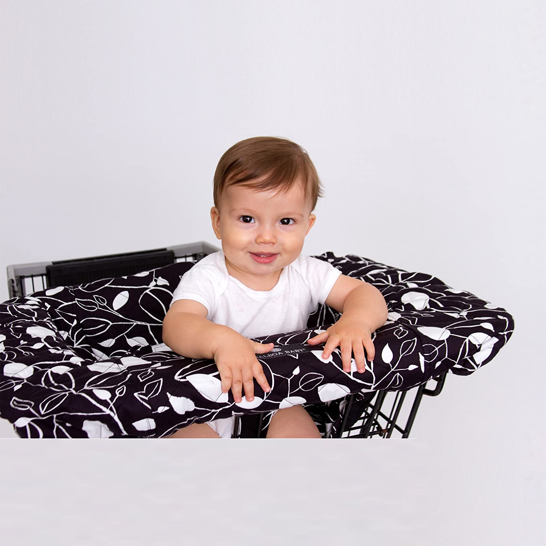 amazoncom  balboa baby shopping cart cover black and white leaf  - amazoncom  balboa baby shopping cart cover black and white leaf  baby