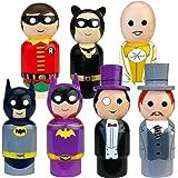 "Bif Bang Pow! Batman Classic TV Series Pin Mate Wooden Figure Set of 7 Collectible, 2"""