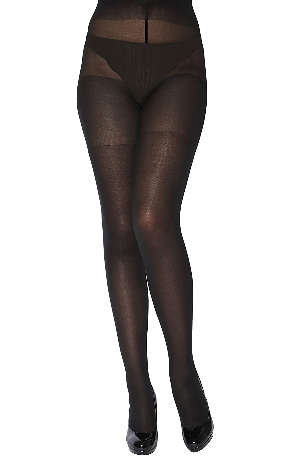 d9035b2733228 Ladies 1 Pair Charnos XeLence 50 Denier Opaque Tights - Black 22-26: Amazon.co.uk:  Clothing