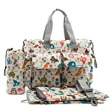 ECOSUSI Handy Baby Nappy Changing Bags Wipable Totes 4pcs Deluxe Changing Tote Mummy Handbags