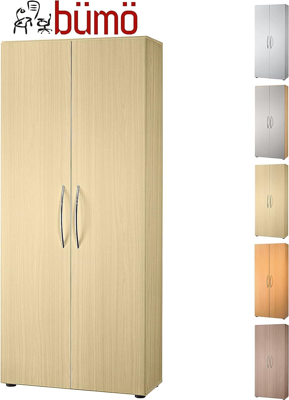 Armario de madera de bumo | Oficina de gabinete para aktenordner | Puertas correderas para armario para carpetas | Incluido 4 estantes ajustables | En 8 coloures disponibles: Amazon.es: Hogar
