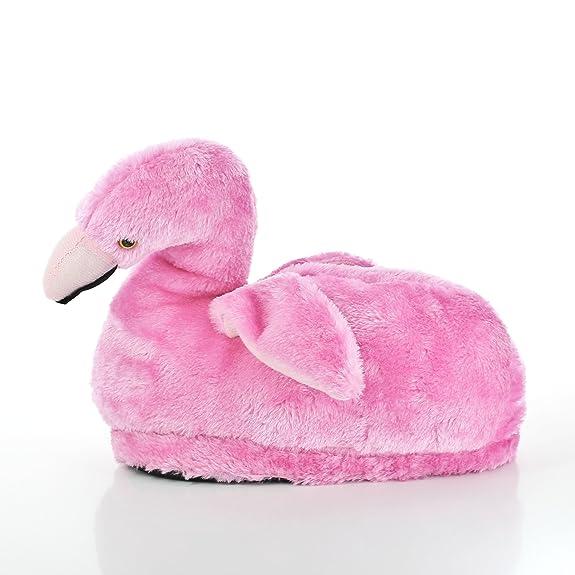 Sleeper'z Rutschfeste Plüsch-Hausschuhe Flamingo - Größe S jLRQ42