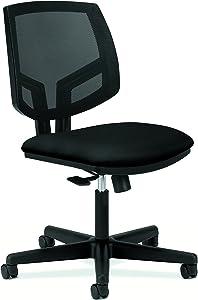 HON Volt Task Chair - Mesh Computer Chair for Office Desk, Black (H5711)