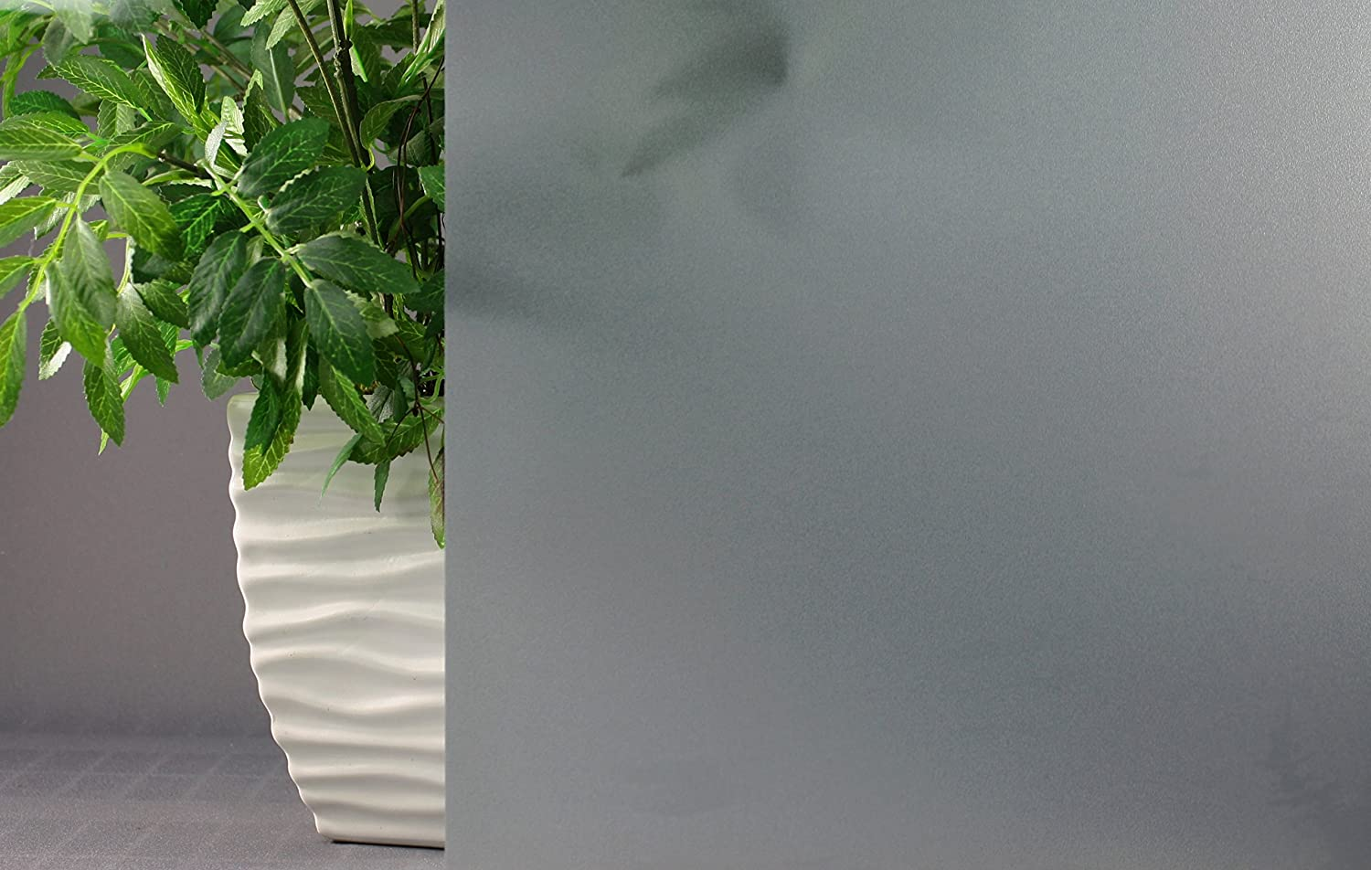 5 x 7, Amber Frosted Color Decorative Privacy Static Cling Window Film