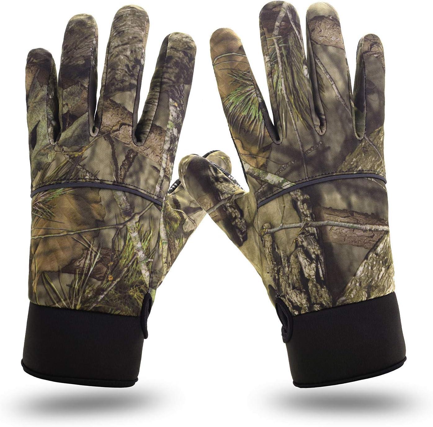 Men Women Winter Outdoor Hunting Camouflage Anti-slip Full Finger Gloves XL