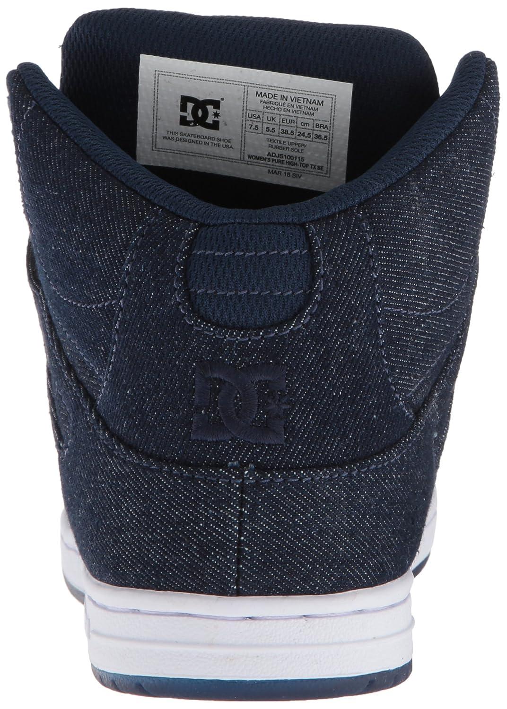 b2c1dcdfac8cc9 DC Womens Pure High-Top TX SE Skate Shoe Black ADJS100115 Action Sports  Women