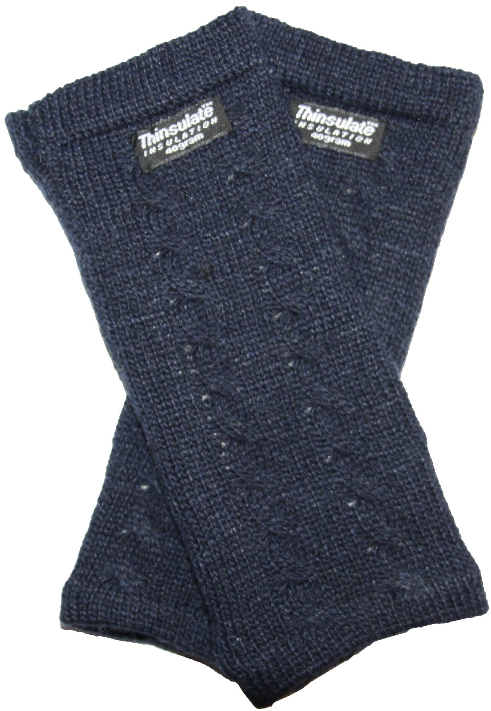 EEM knitted arm warmers DIANA made of 100% wool, Thinsulate lining, plait pattern, navy by EEM (Image #3)