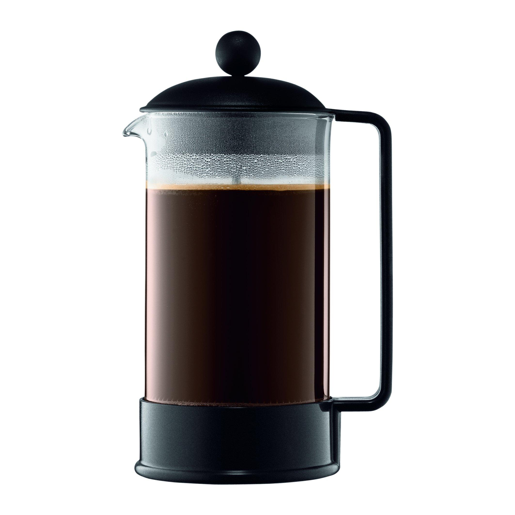 Bodum 1548-01US Brazil French Press Coffee and Tea Maker, 34 Ounce, Black by Bodum
