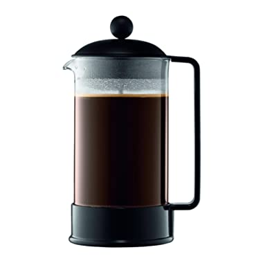 Bodum 1548-01US Brazil French Press Coffee and Tea Maker, 34 Ounce, Black
