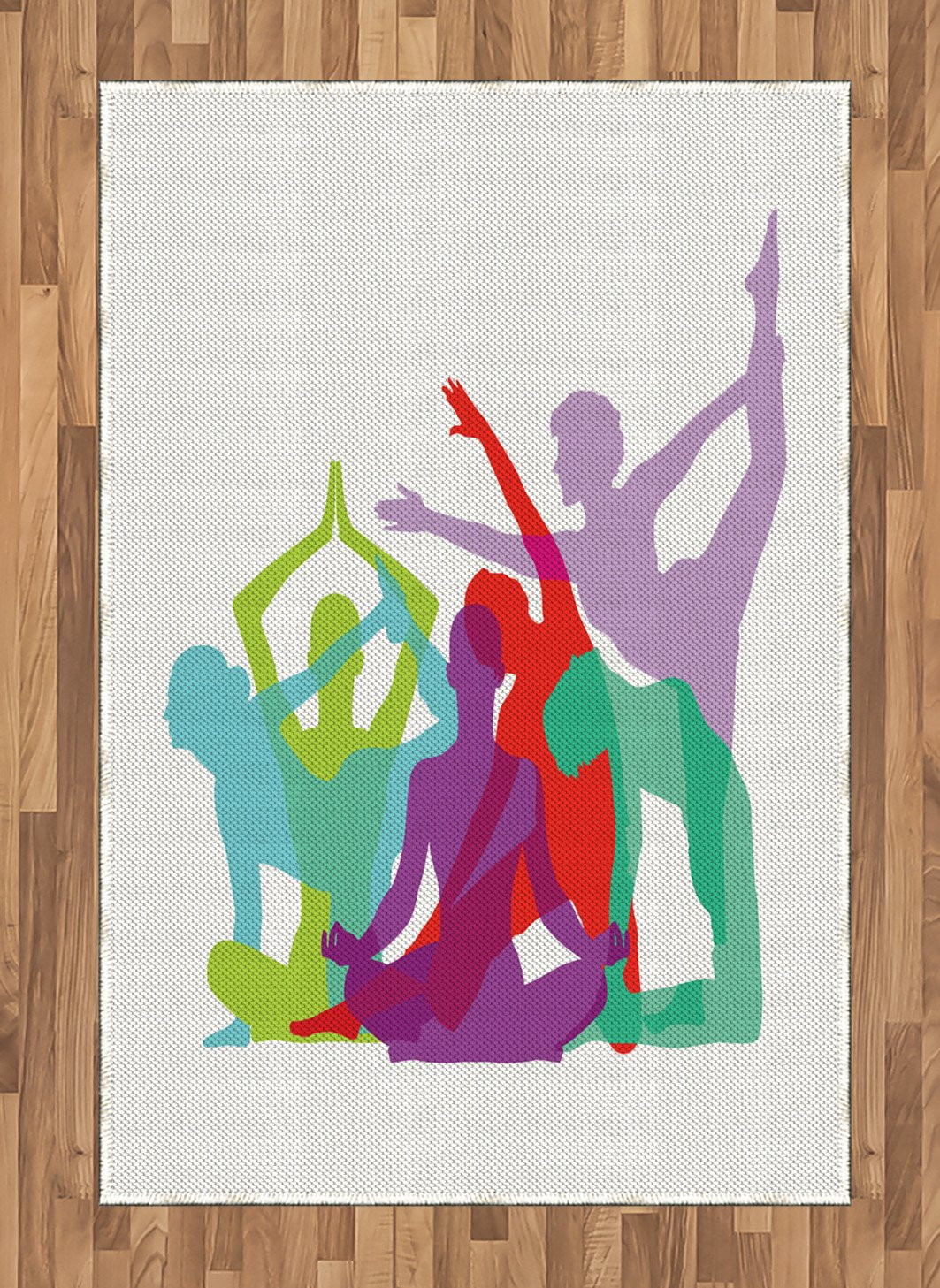Amazon.com: Ambesonne Yoga Area Rug, Yoga Body Forms Poses ...