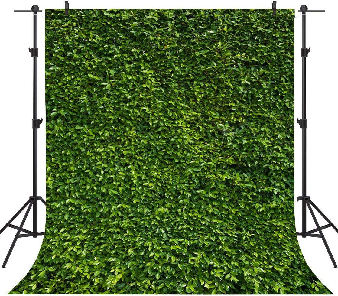 Sensfun 5x7ft Green Leaves Wall Photography Backdrops Natural Lawn Grass Leaf Floordrop Pictures Background Bride Baby Shower Summer Birthday Party Banner Wedding Decoration Photo Booth Supplies