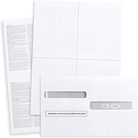 Ideal for E-Filing QuickBooks Online Compatible 50 Employee Sets Blank 2019 W2 3 Up Tax Forms 50 Sheets and 50 Self Seal Envelopes Works with Laser or Inkjet Printers