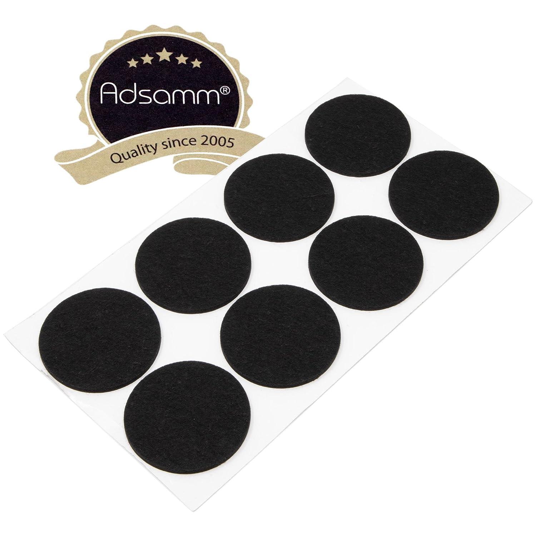 8x patins en feutre | Ø 60mm | Noir | rond | 3.5mm Forte de meubles Patins feutre adhésifs en Top Qualité de adsamm® Adsamm®