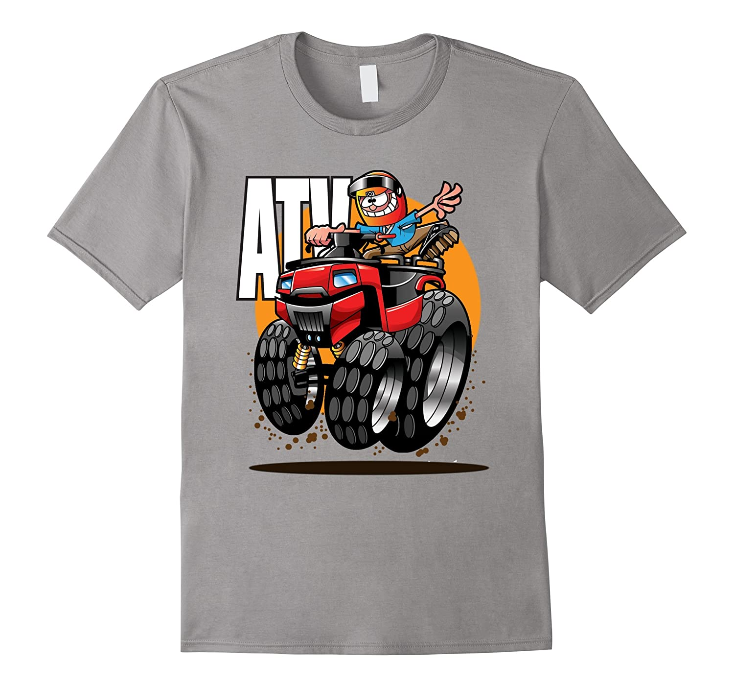 ATV trail riding four wheeler quad racer t-shirt-CD