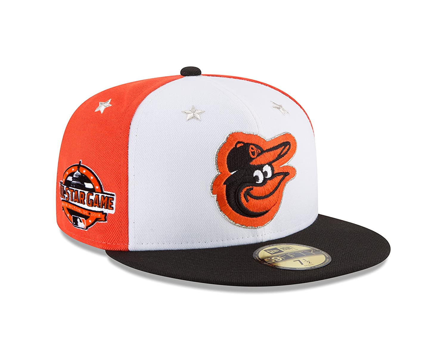 efea60e00ad Amazon.com   New Era Baltimore Orioles 2018 MLB All-Star Game On-Field  59FIFTY Fitted Hat - White Black   Sports   Outdoors