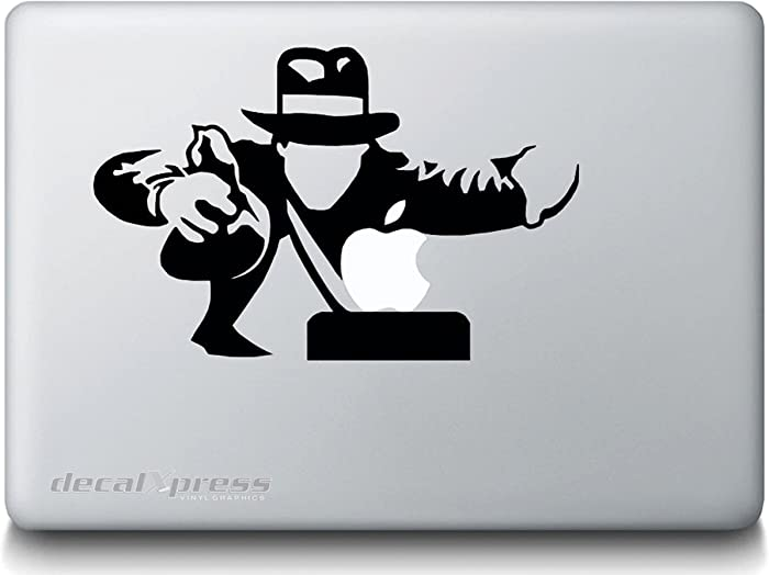Indiana Jones -Sticker Decal MacBook, Air, Pro All Models