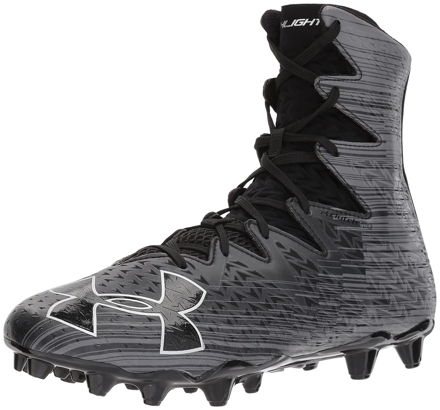 Under Armour Men's Highlight M.C. Lacrosse Shoe B06XKGR7RX 9 M US|Black (001)/Metallic Silver