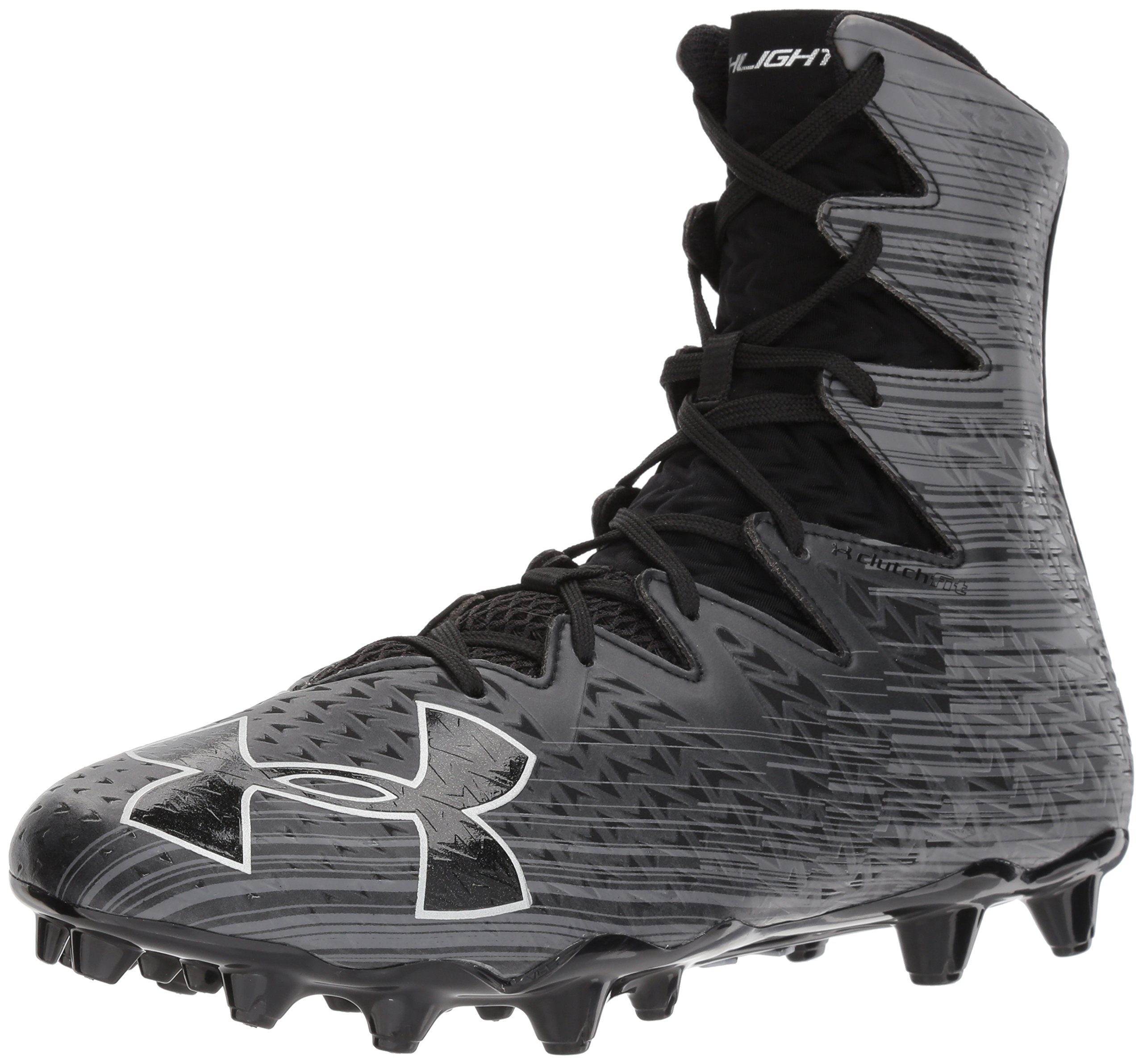 Under Armour Men's Highlight M.C. Lacrosse Shoe, Black (001)/Metallic Silver, 12.5 by Under Armour