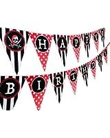 Pirate Happy Birthday Banner Pennant