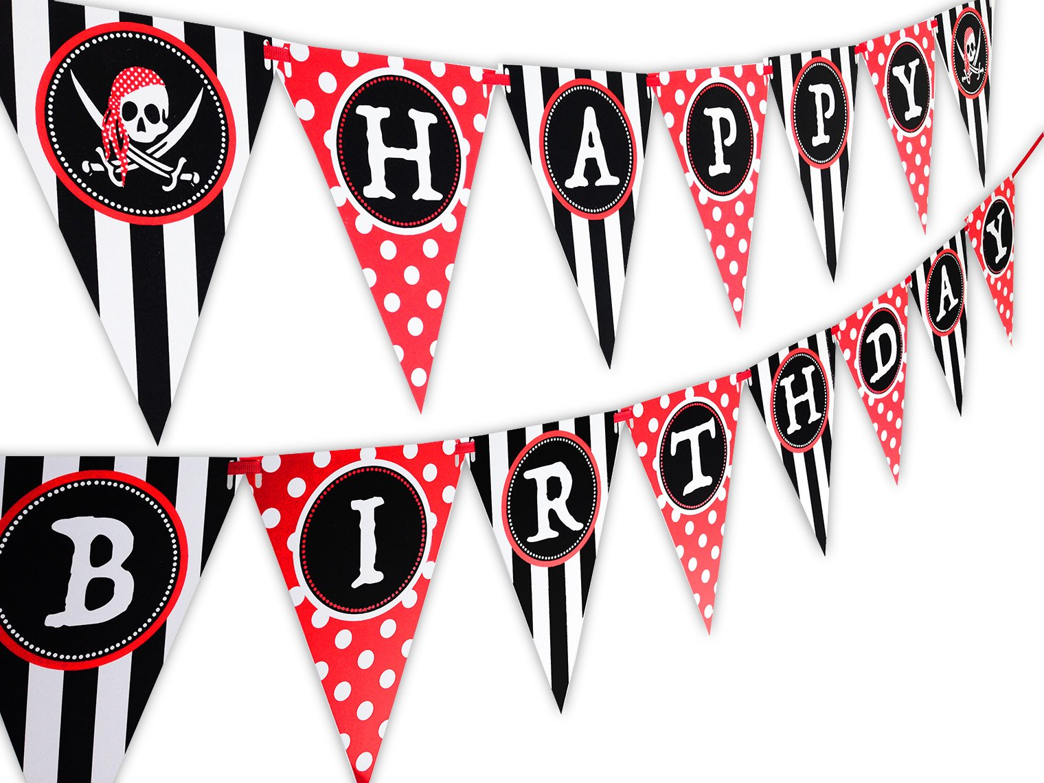 Amazon.com: Pirate Party Supplies for kids Birthday - Set for 16 ...