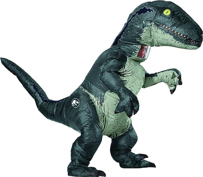 Jurassic World - Disfraz Hinchable de dinosaurio Velociraptor para ...