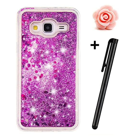 finest selection 03dd2 5f1da Samsung Galaxy J3 Case,Galaxy J310 Liquid case,TOYYM 3D Creative Glitter  Liquid Bling Transparent Sparkle Floating Soft TPU Case Cover for Samsung  ...