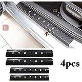 ISEE 360® 4PcS Car Sticker Universal Anti Scratch Door Sill Car Black Decal Hyundai