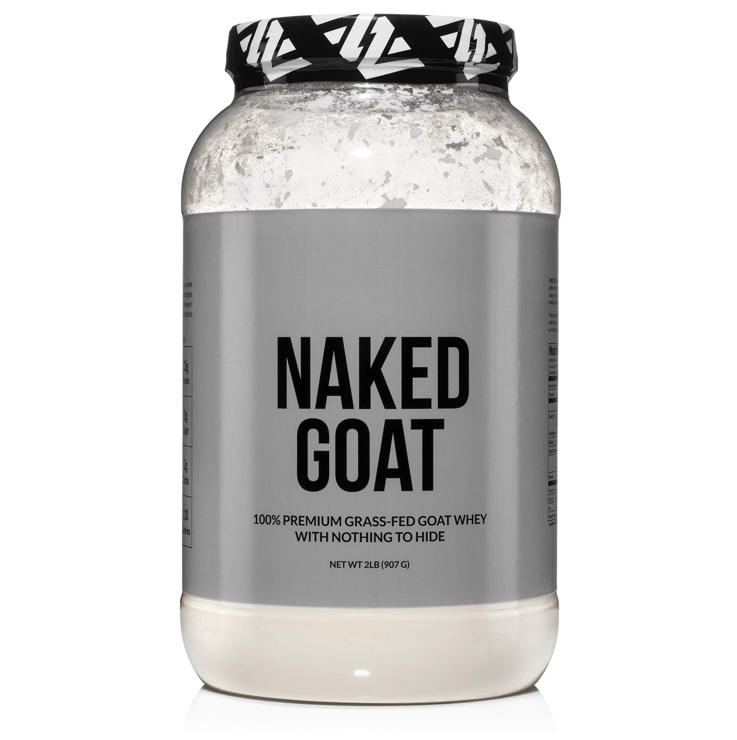NAKED GOAT - 100% Pasture Fed Goat Whey Protein Powder from Small-Herd Wisconsin Dairies, 2lb Bulk, GMO Free, Soy Free. Easy to Digest - All Natural - 23 Grams of Protein - 76 Servings