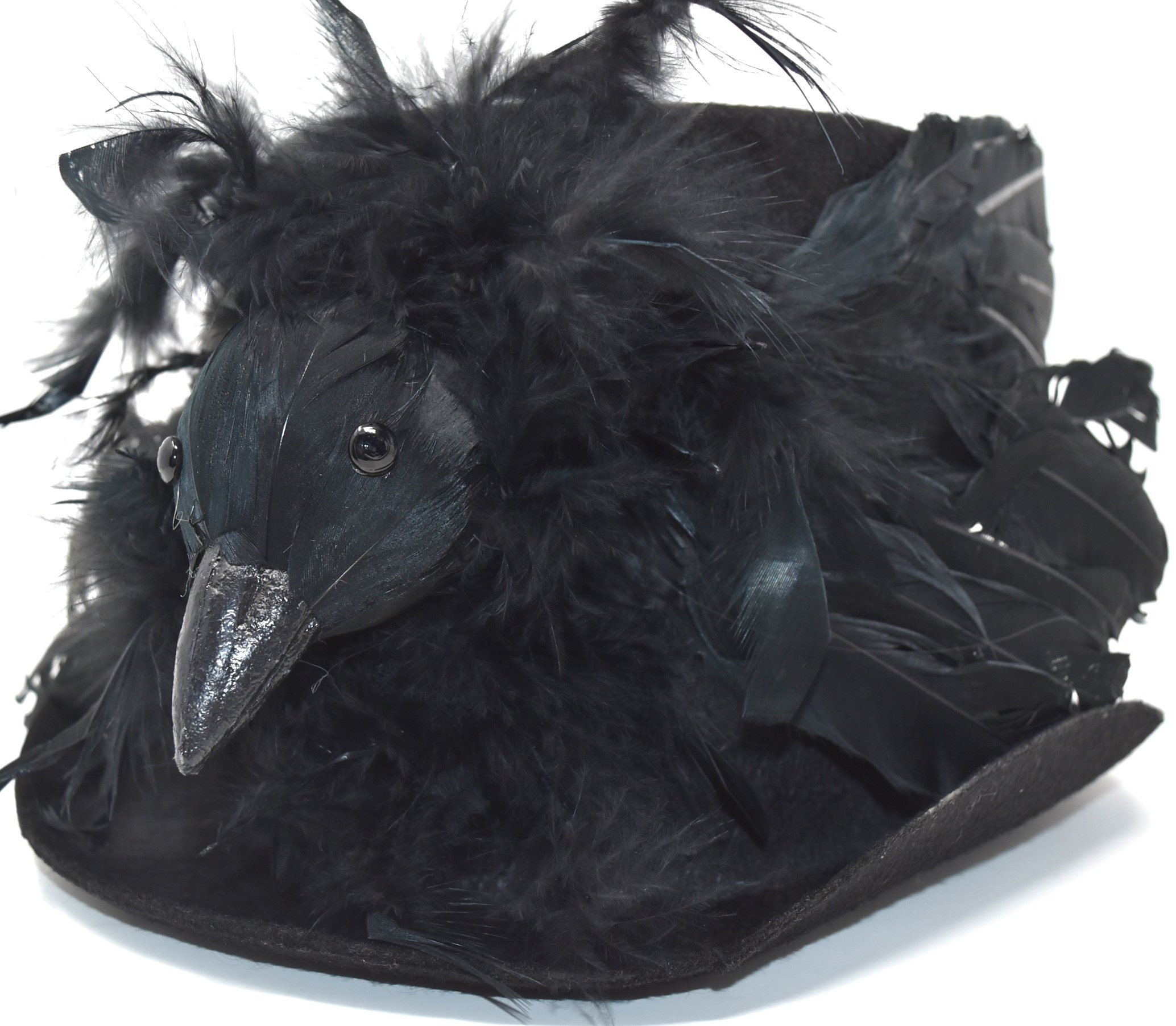 Bethany Lowe Halloween Haunted Raven Top Hat RL2899 - Size Large (Haunted Raven)