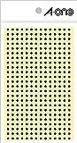 エーワン カラーラベル 青 丸型 3mm 4シート 07682