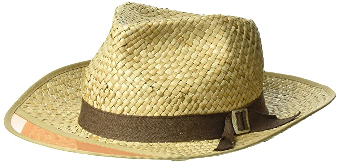 Amazon.com  Brixton Men s Hunter Medium Brim Straw Fedora Hat  Clothing acec3a5f52d
