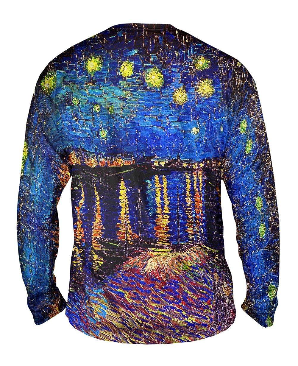 The Starry Night 1889 Yizzam- Vincent Van Gogh -TShirt- Mens Long Sleeve