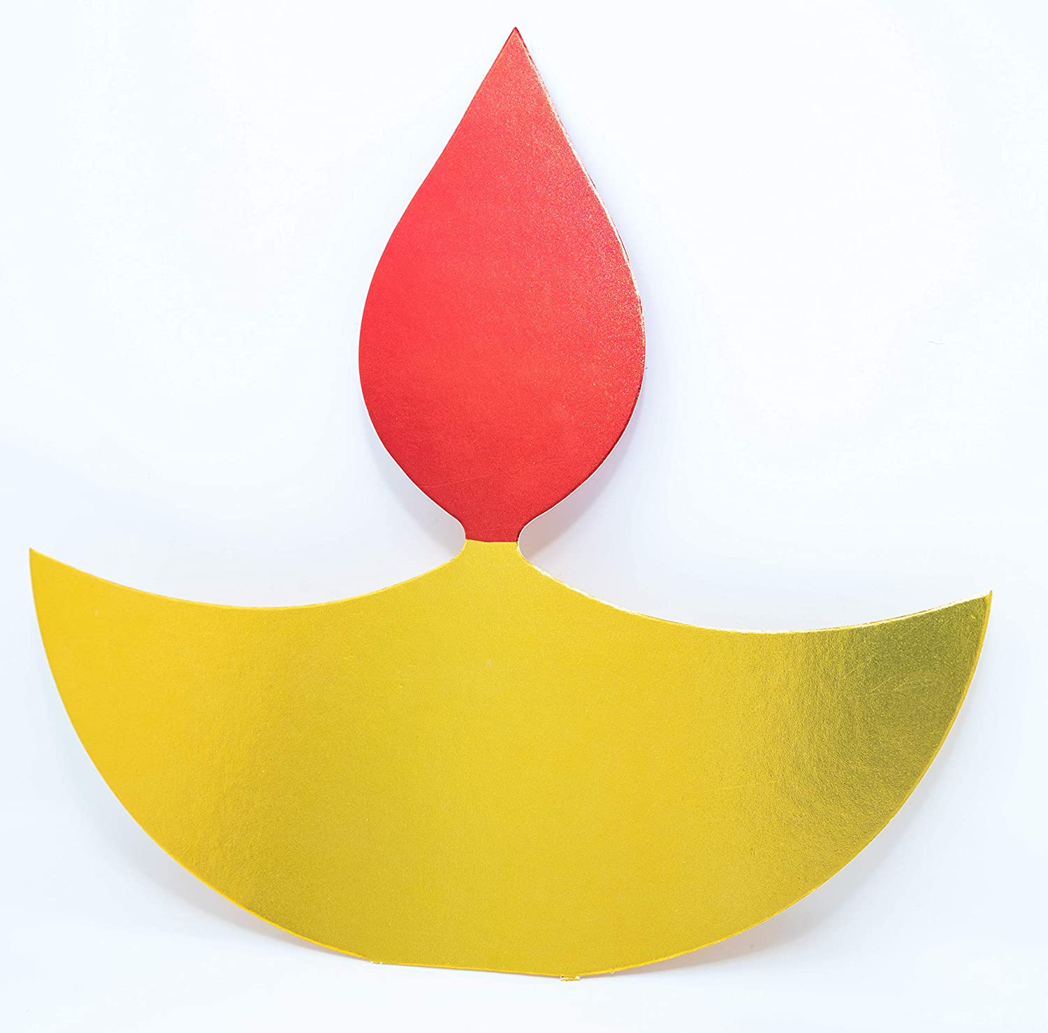 Desi Favors Diya Shaped Cutouts Big Size for Diwali Decorations for Home Diya Decor - Indoor and Outdoor Diwali Crafts